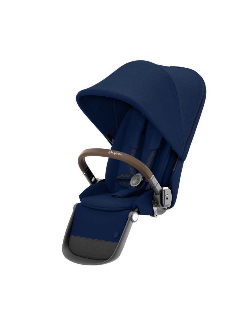 Assento adicional para o carrinho de gazela com estrutura cinza e alça de couro ecológico marrom - Cybex