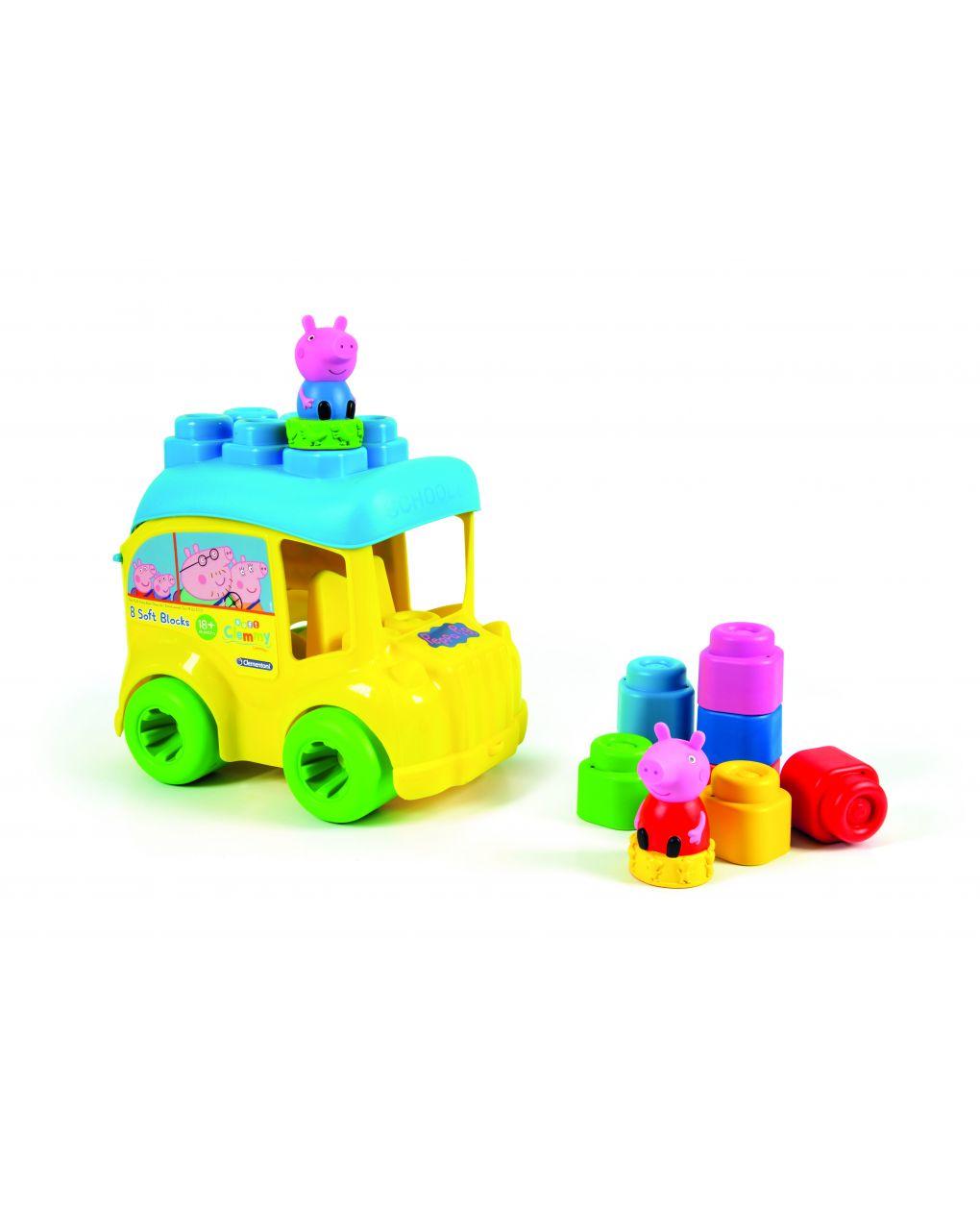 Peppa pig - balde de ônibus escolar de peppa pig - Clementoni