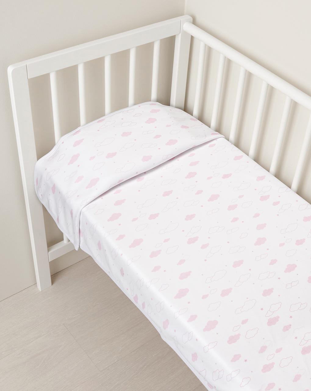 Cobertura de bloqueio com nuvens de bebê - Prénatal