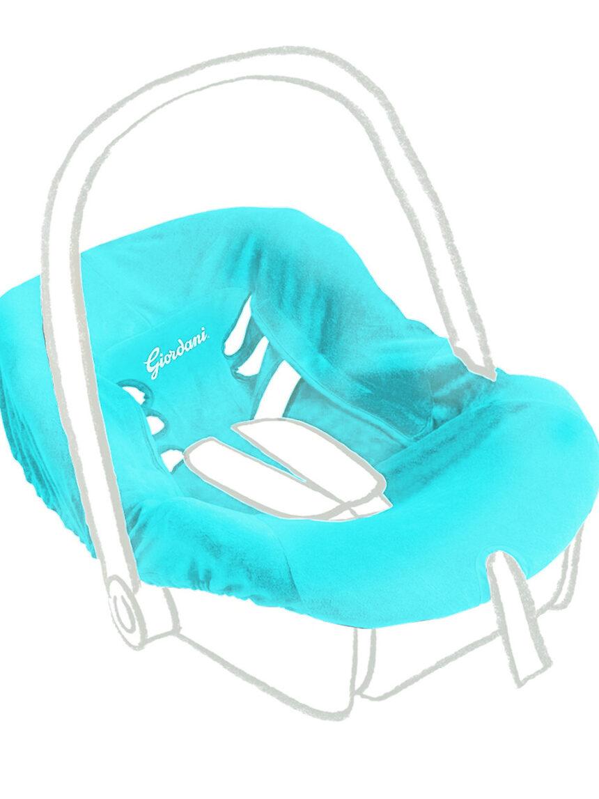 Capa para cadeirinha de bebê gr 0+ azul claro - Giordani