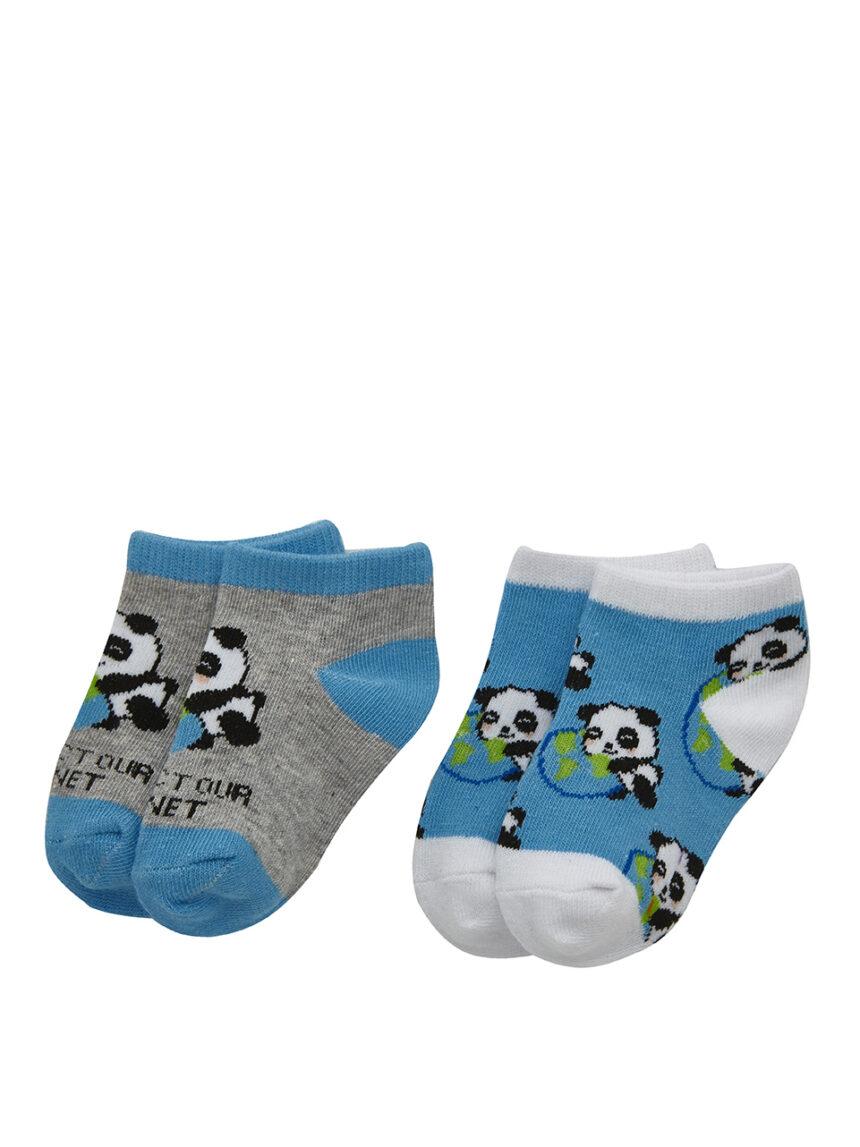 Pacote de 2 pares de meias com estampa panda - Prénatal