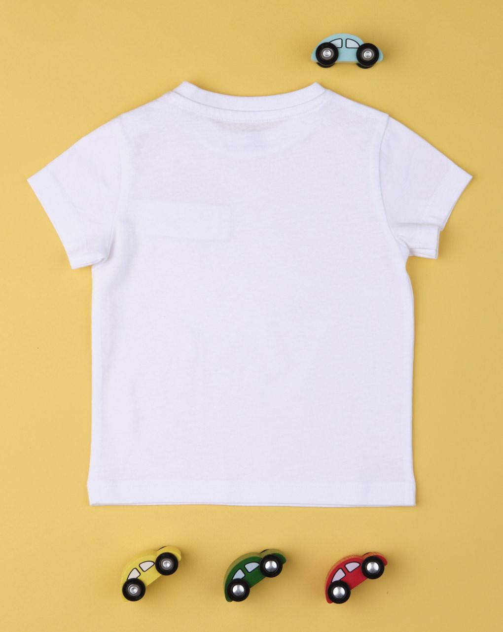 "T-shirt menino taschino ""branco"" - Prénatal"