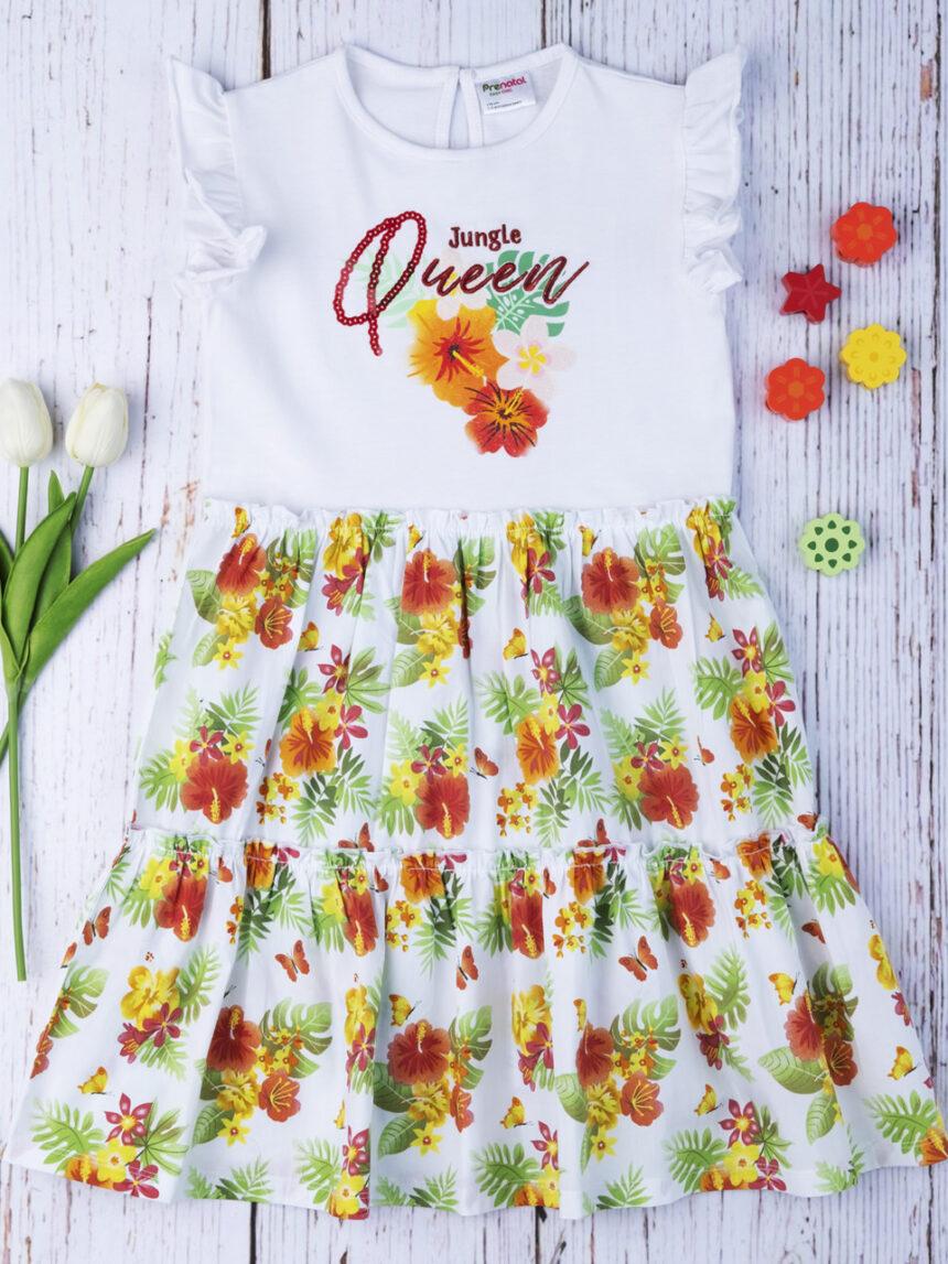 """Vestido de menina """"rainha da selva"""" - Prénatal"""