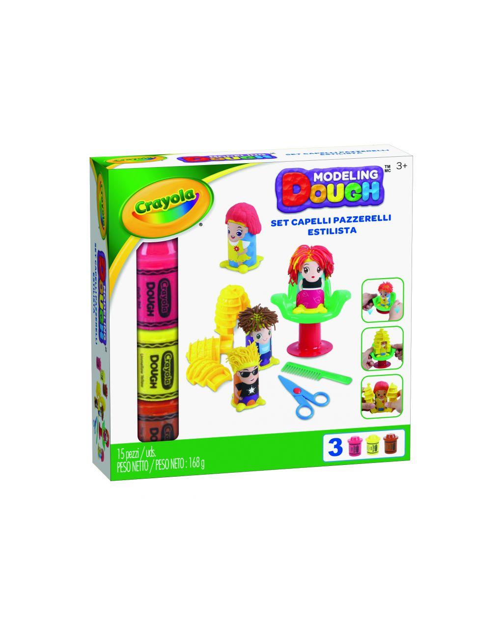 Crayola - conjunto de cabelo em pasta de modelagem pazzerelli - Crayola