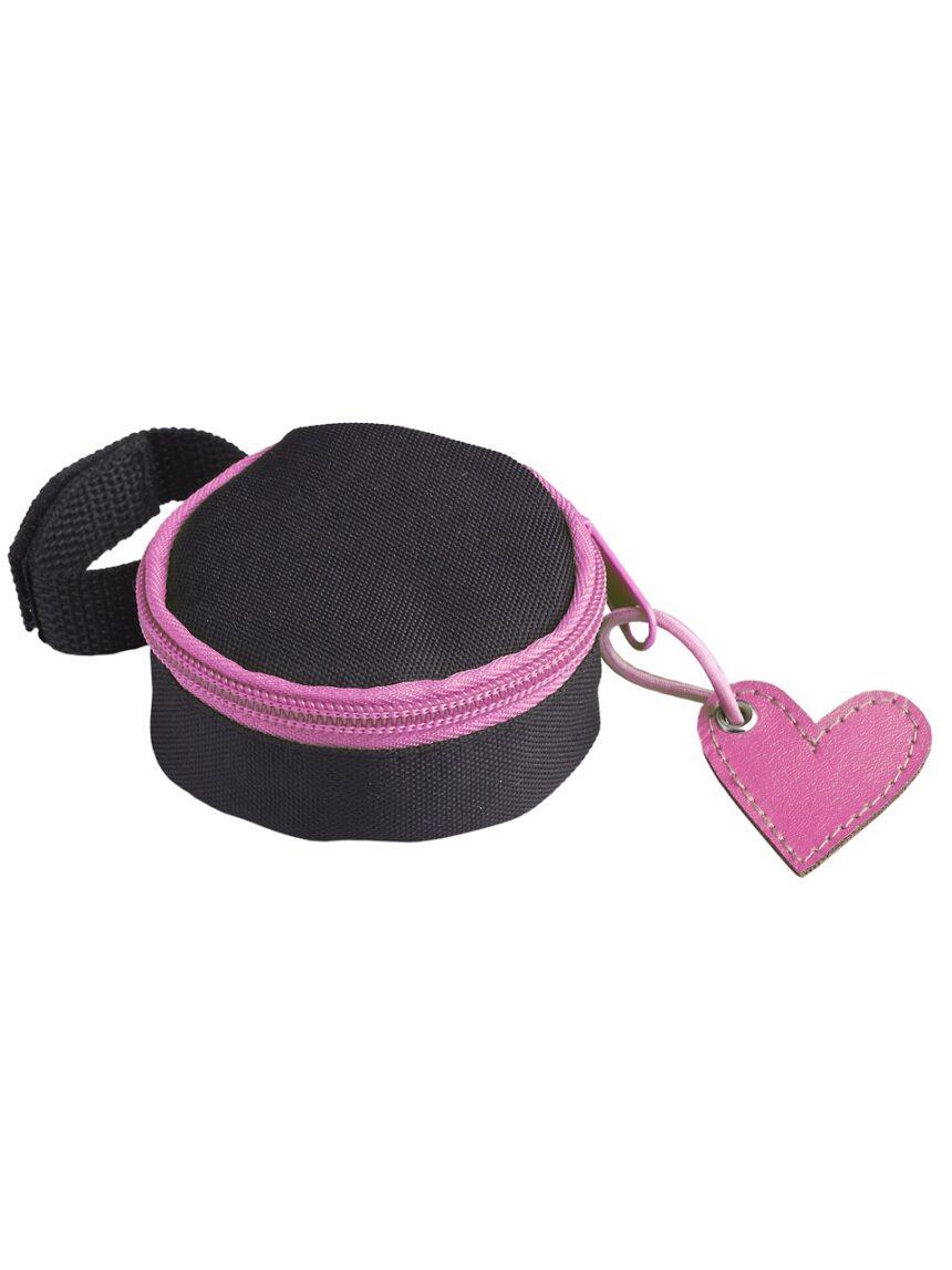 Porta-chupeta em tecido rosa pré-natal - Prénatal