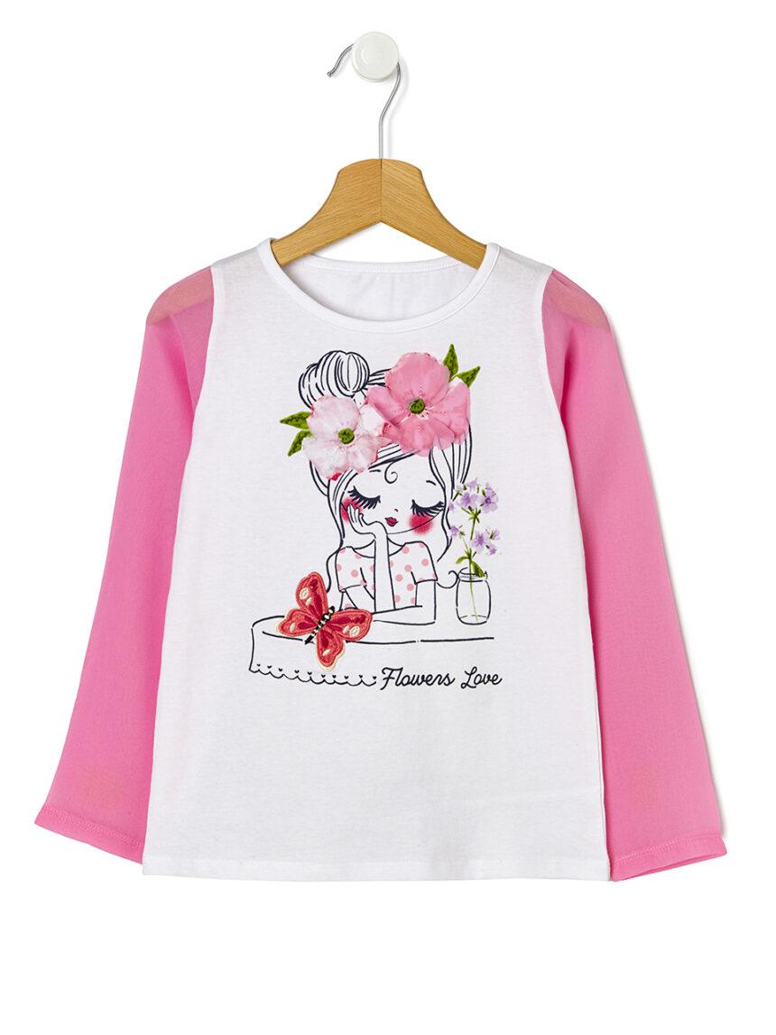 Camiseta com mangas de organza - Prénatal