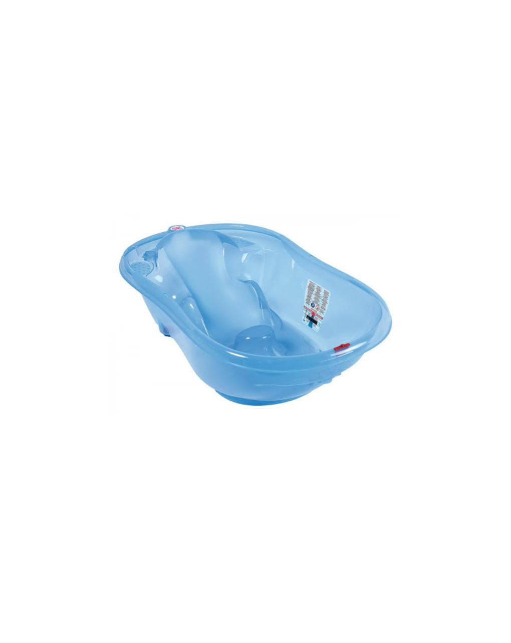 Banheira onda azul transparente - Okbaby