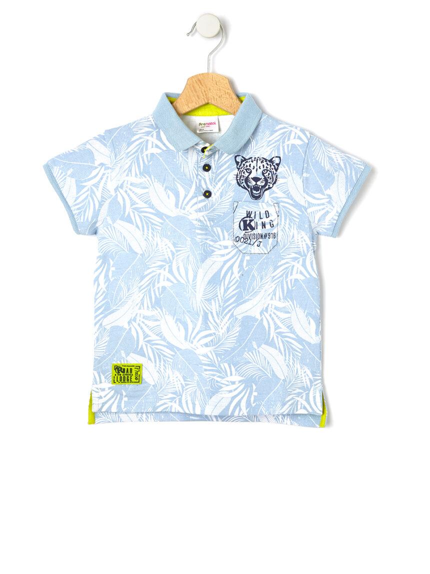 Camisa pólo em jersey com estampado - Prénatal