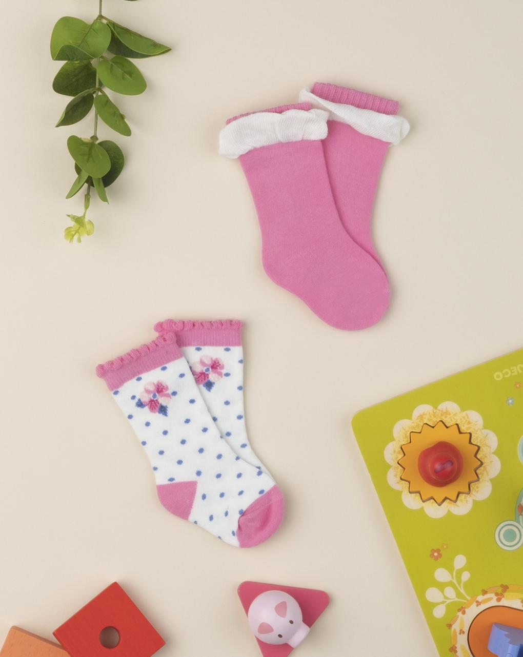 Pacote 2 calze girl rosa - Prénatal