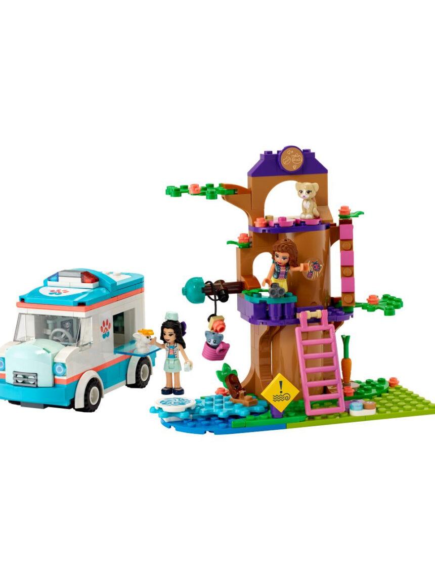 Amigos de lego - ambulância de clínica veterinária - 41445 - LEGO