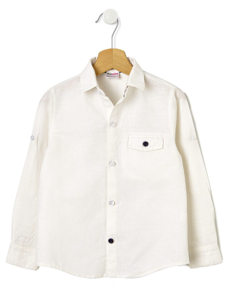 Camisa com gola removível - Prénatal
