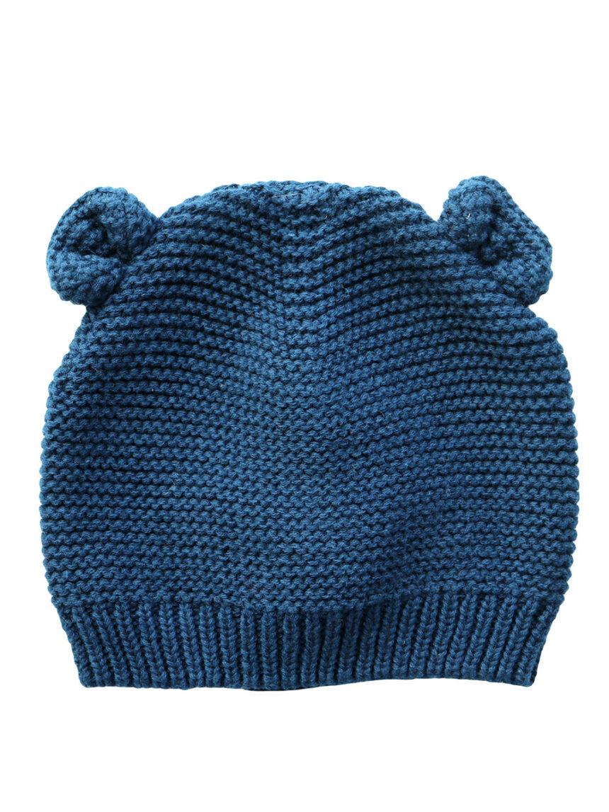 Chapéu tricot azul com orelhas - Prénatal
