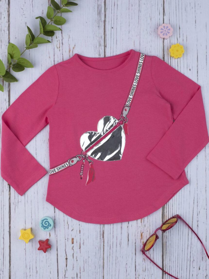 """Camiseta feminina com """"coração zip"""" - Prénatal"""