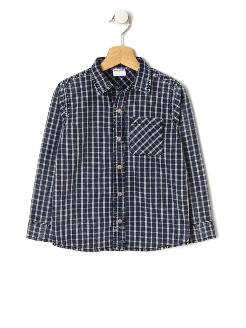 Camisa xadrez com botões de pressão - Prénatal