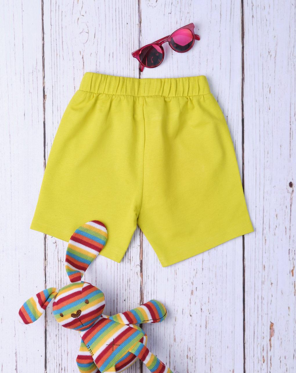 Shorts bimbo básico amarelo - Prénatal