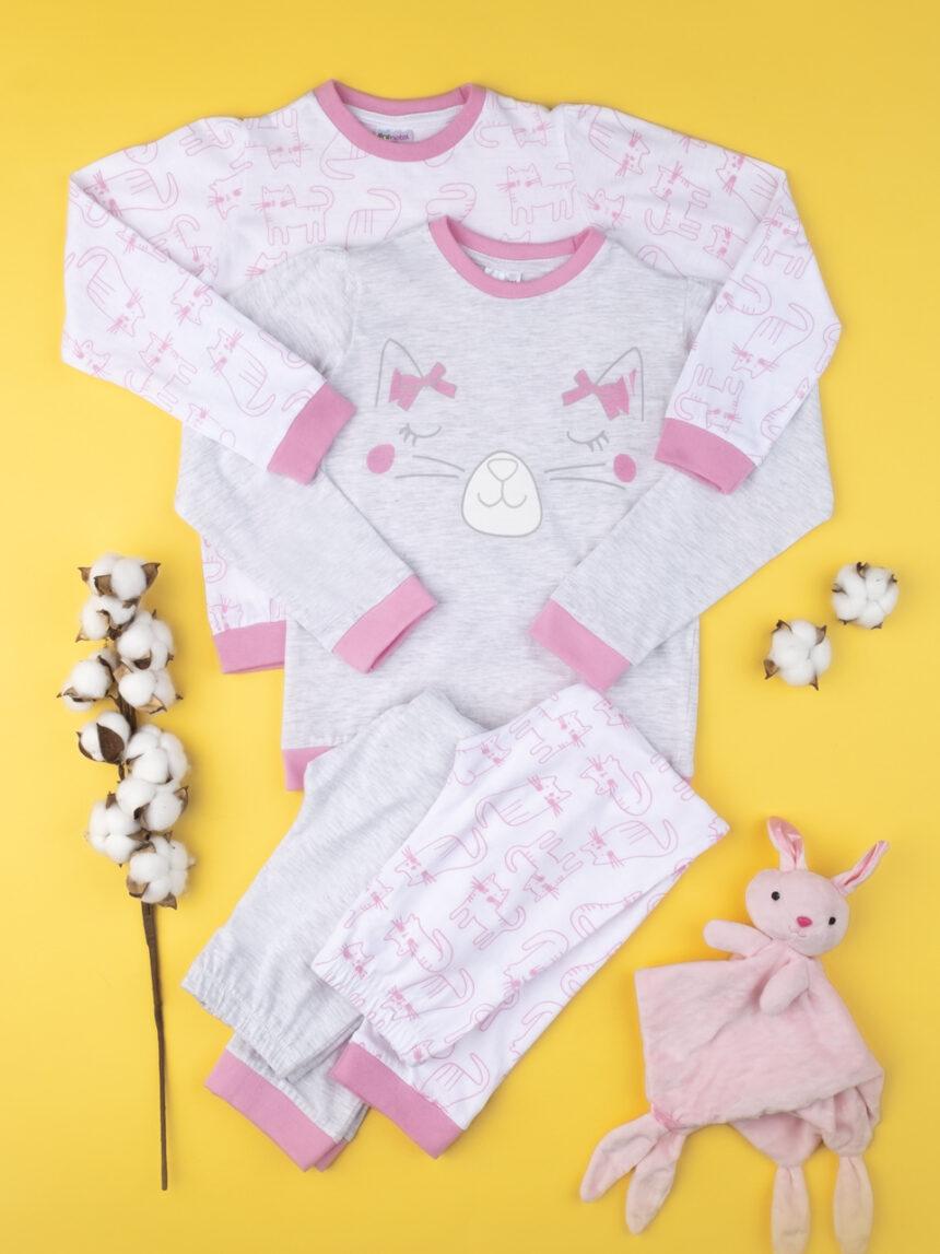 """Pacote de 2 roupas femininas """"gatos"""" - Prénatal"""