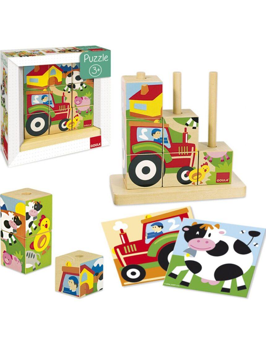 Goula - quebra-cabeças de cubos de fazenda - Goula
