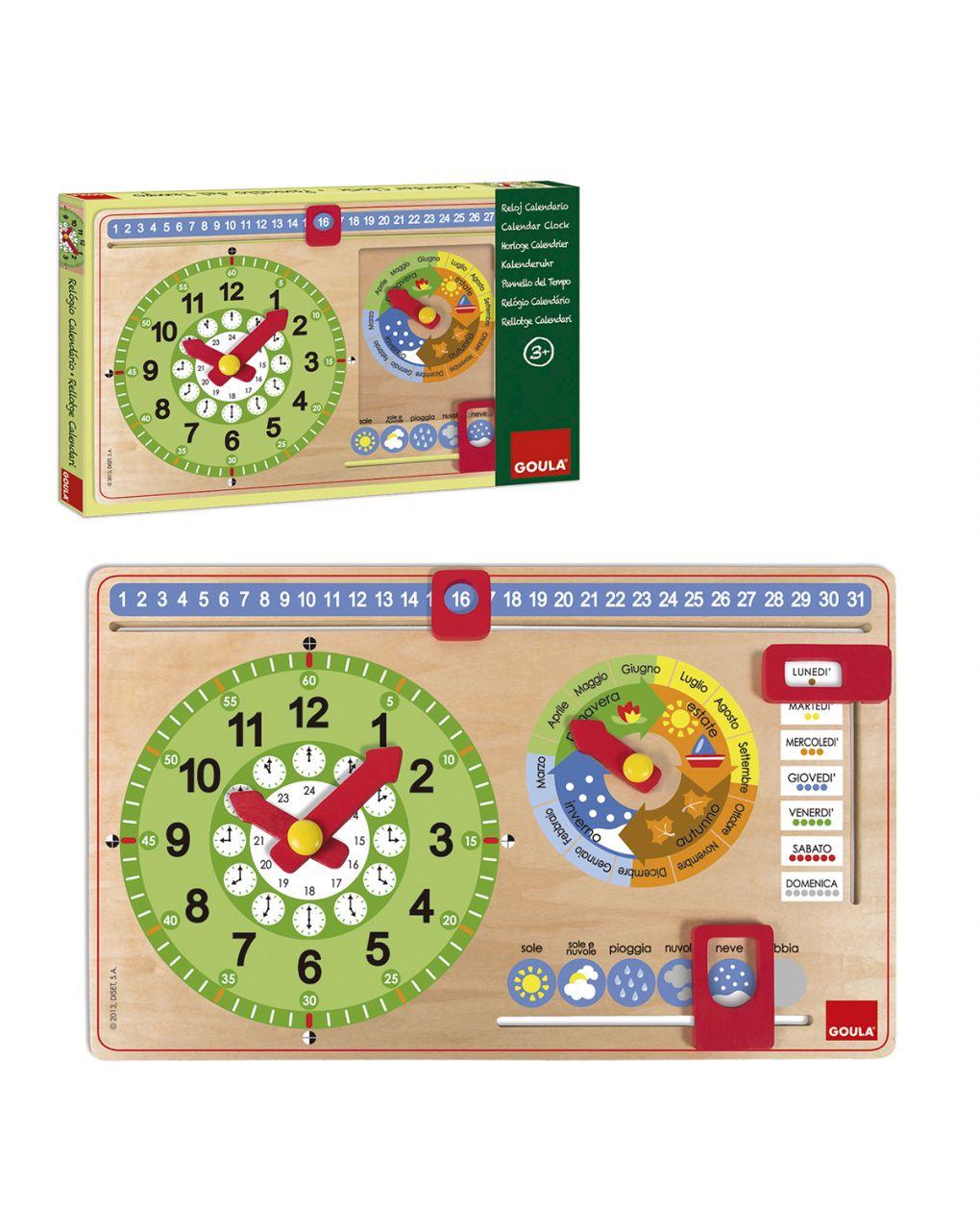 Goula - pequeno relógio de calendário italiano - Goula