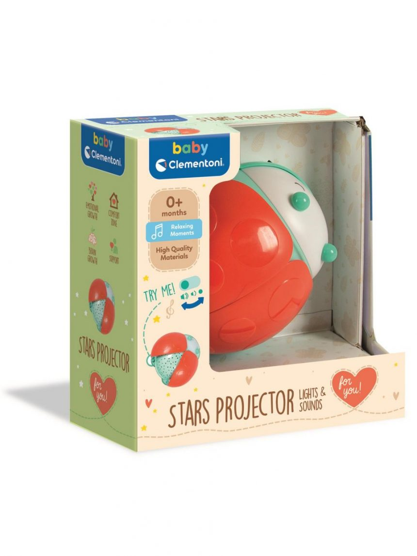 Clementoni bebê - projetor de estrelas de luz e sons - Clementoni