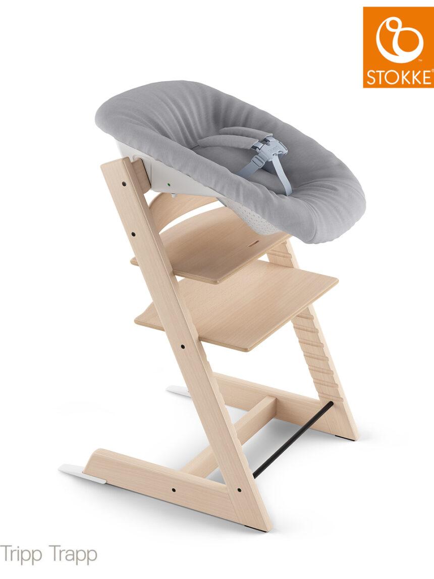 Conjunto tripp trapp® recém-nascido com cabide de brinquedo - cinza - Stokke