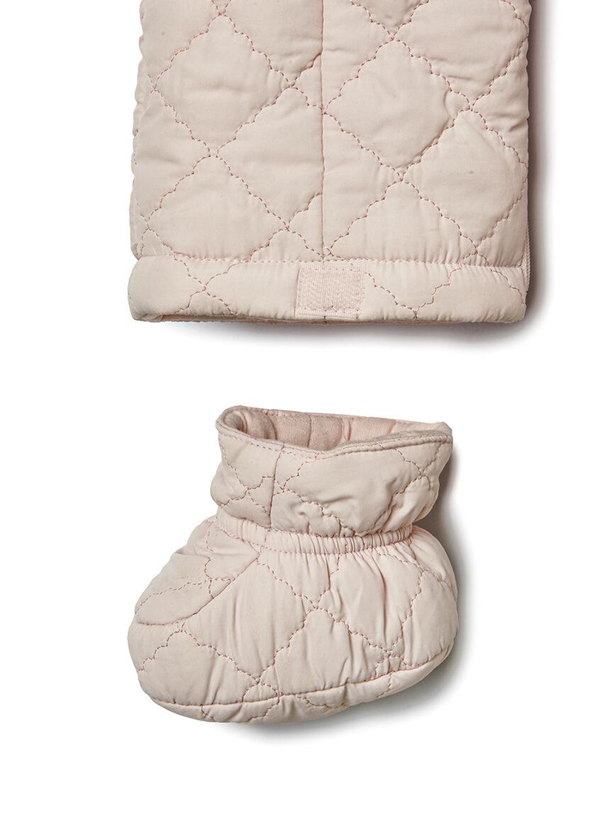 Fato acolchoado em tecido rosa - Prénatal