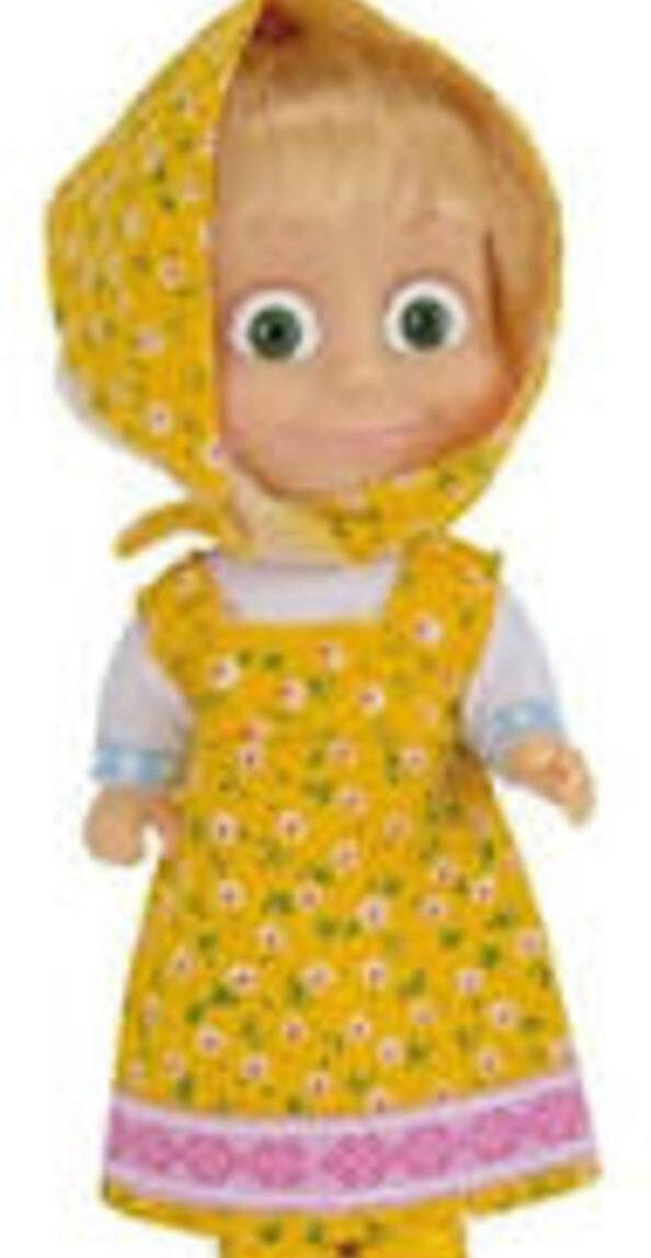 Boneca masha 12 cm 4 assuntos - Masha & Orso