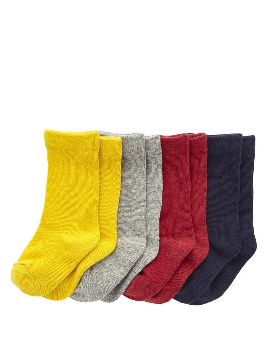 Pacote de 4 pares de cor sólida até o joelho - Prénatal