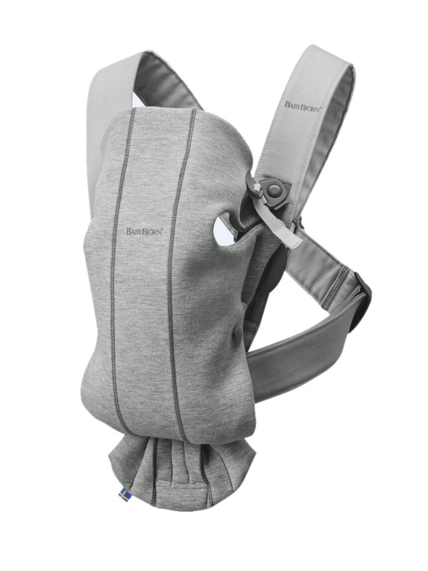 Porta-bebés marsupio mini-jersey cinza claro 3d - Baby Bjorn