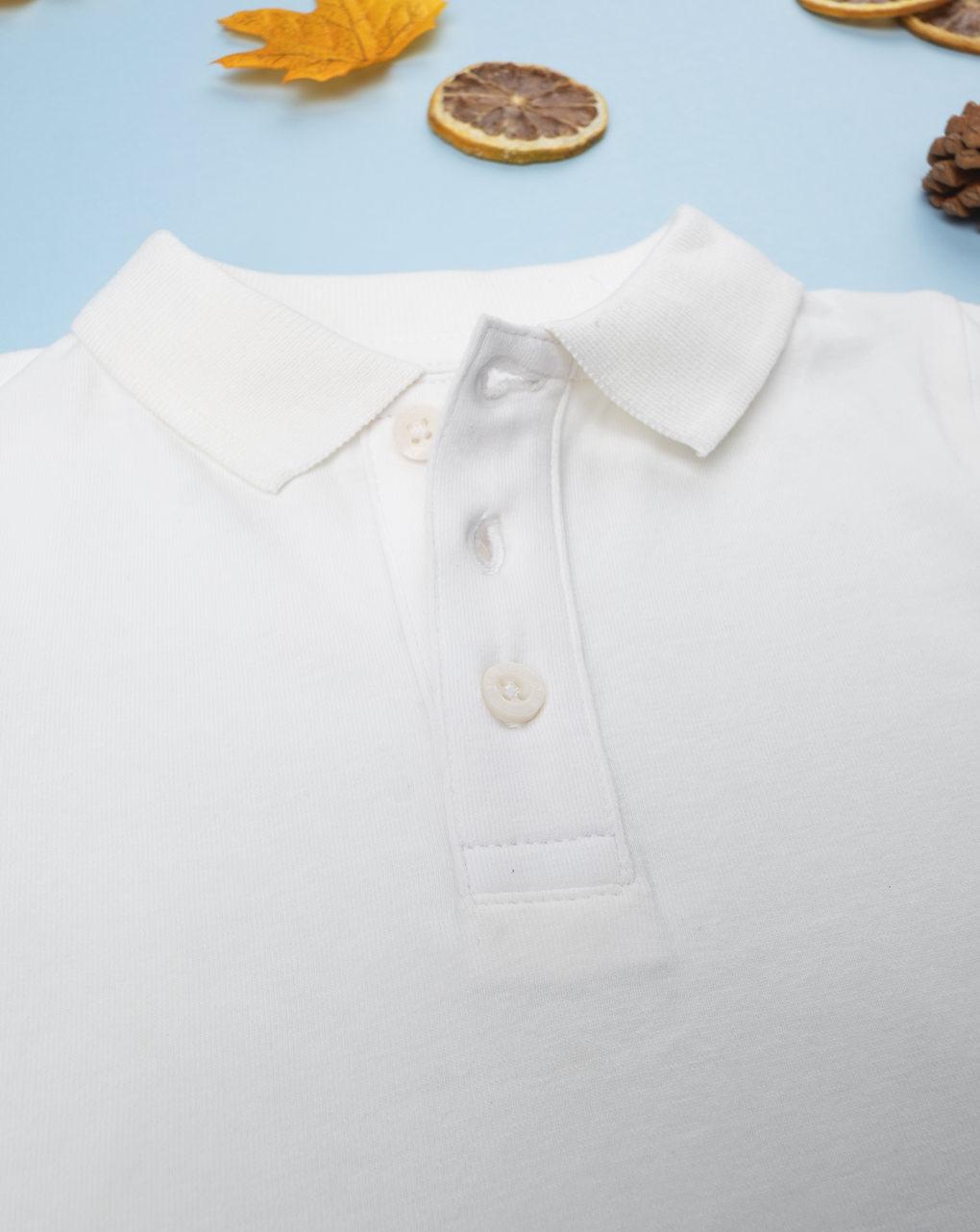 Menino polo bianco corporal - Prénatal