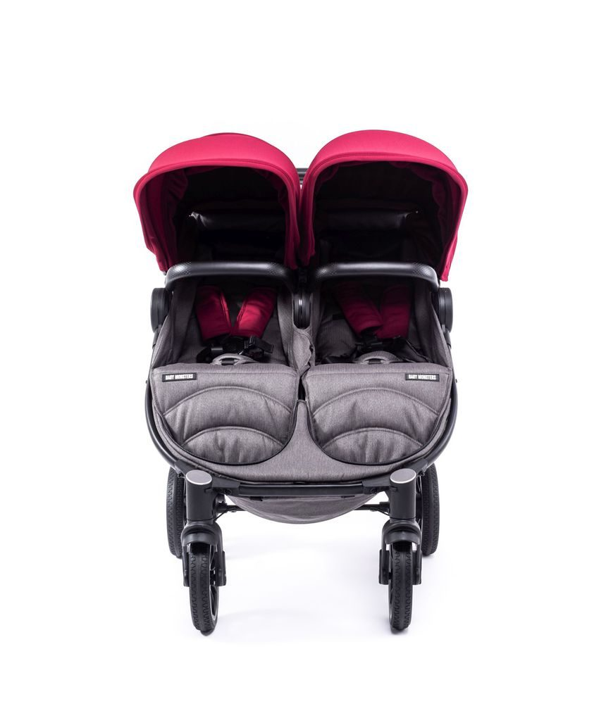 Silla gemelar easy twin 4 chasis preto con bordeaux pack cor - Baby Monsters