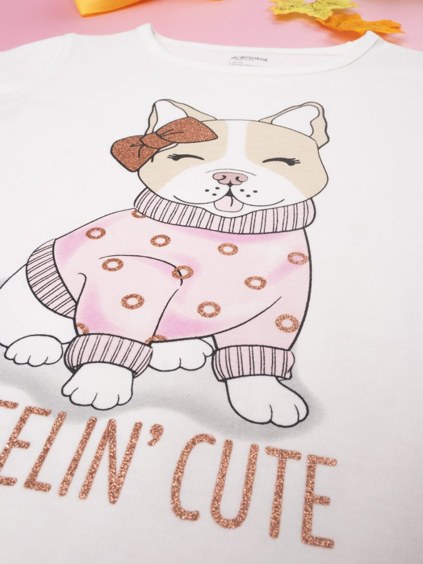 """T-shirt girl stampata """"feelin cute"""" - Prénatal"""