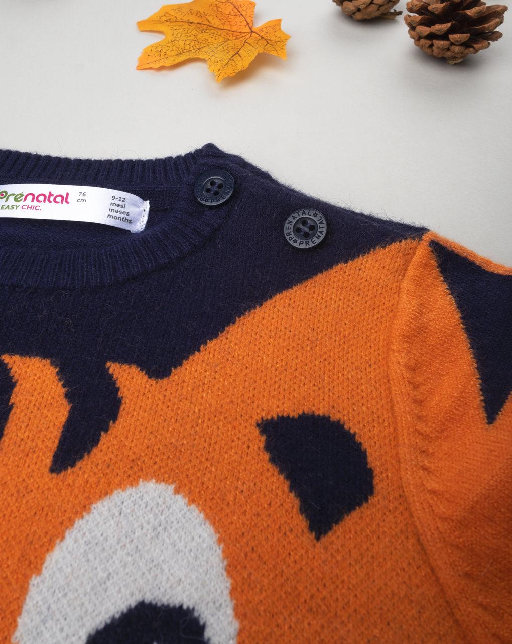 """Suéter tricot masculino """"tigrotto"""" - Prénatal"""