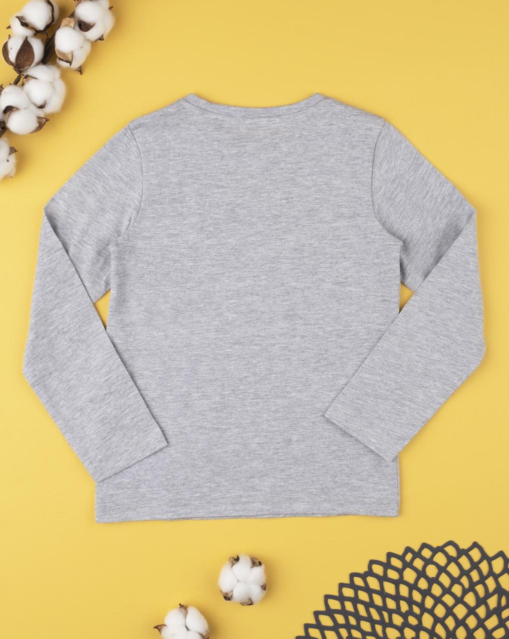 Camiseta tinta unita cinza - Prénatal