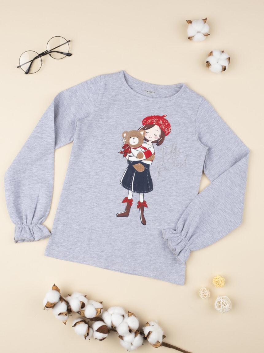 """Camiseta menina """"girl & orsetto"""" - Prénatal"""