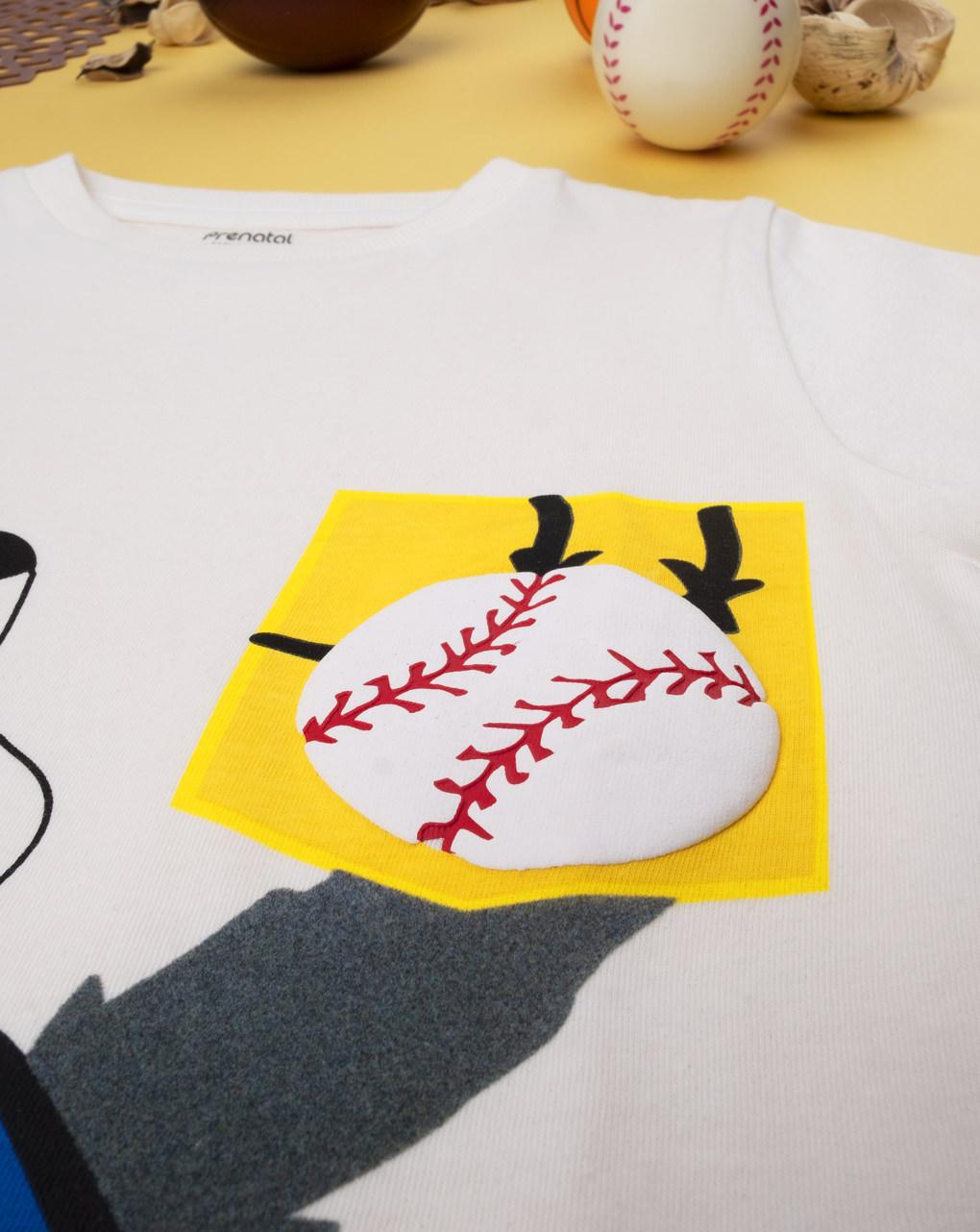 """Garoto da camiseta """"jogue beisebol"""" - Prénatal"""