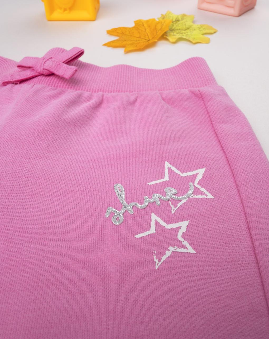 Pantalone felpato menina rosa - Prénatal
