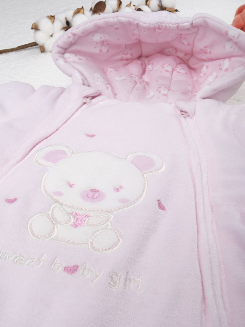 Terno de neve menina rosa - Prénatal