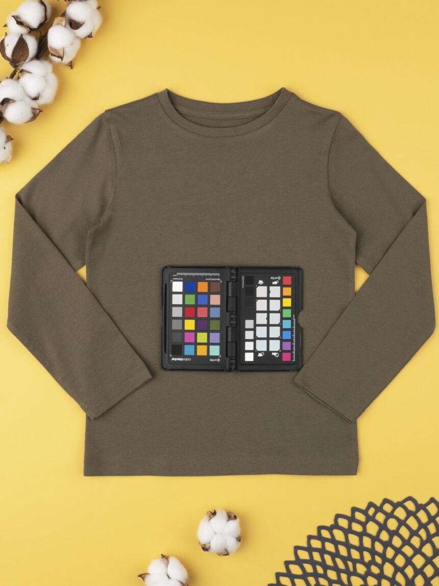 Camiseta marrom lisa - Prénatal