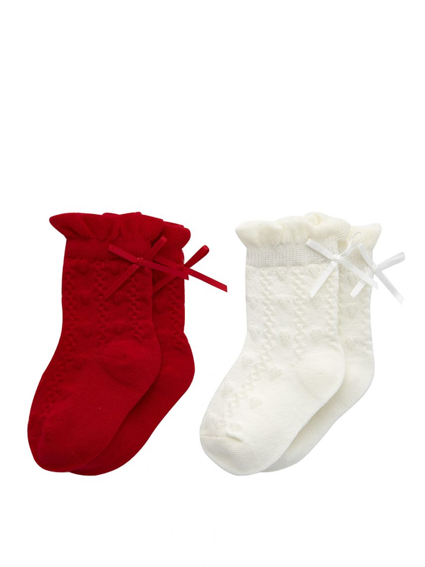 Pacote de 2 pares de meias femininas até os joelhos - Prénatal