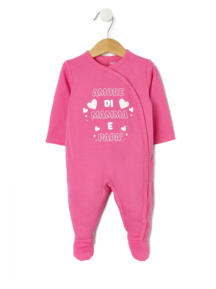 Jersey jumpsuit mom and dad love - Prénatal