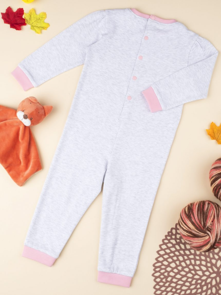 "Pijama cinza de menina ""ursinhos de pelúcia"" - Prénatal"