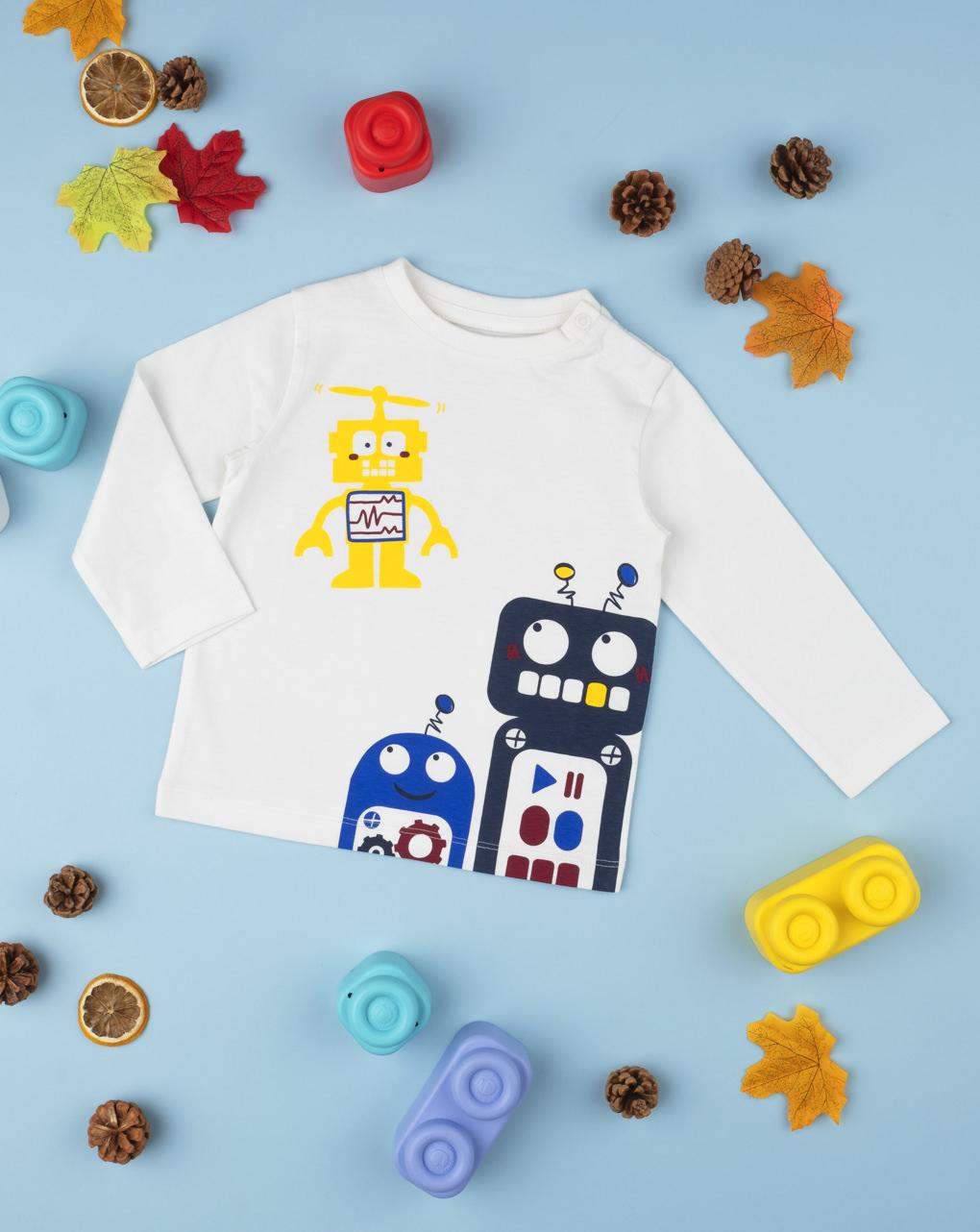 """T-shirt menino """"robô"""" - Prénatal"""