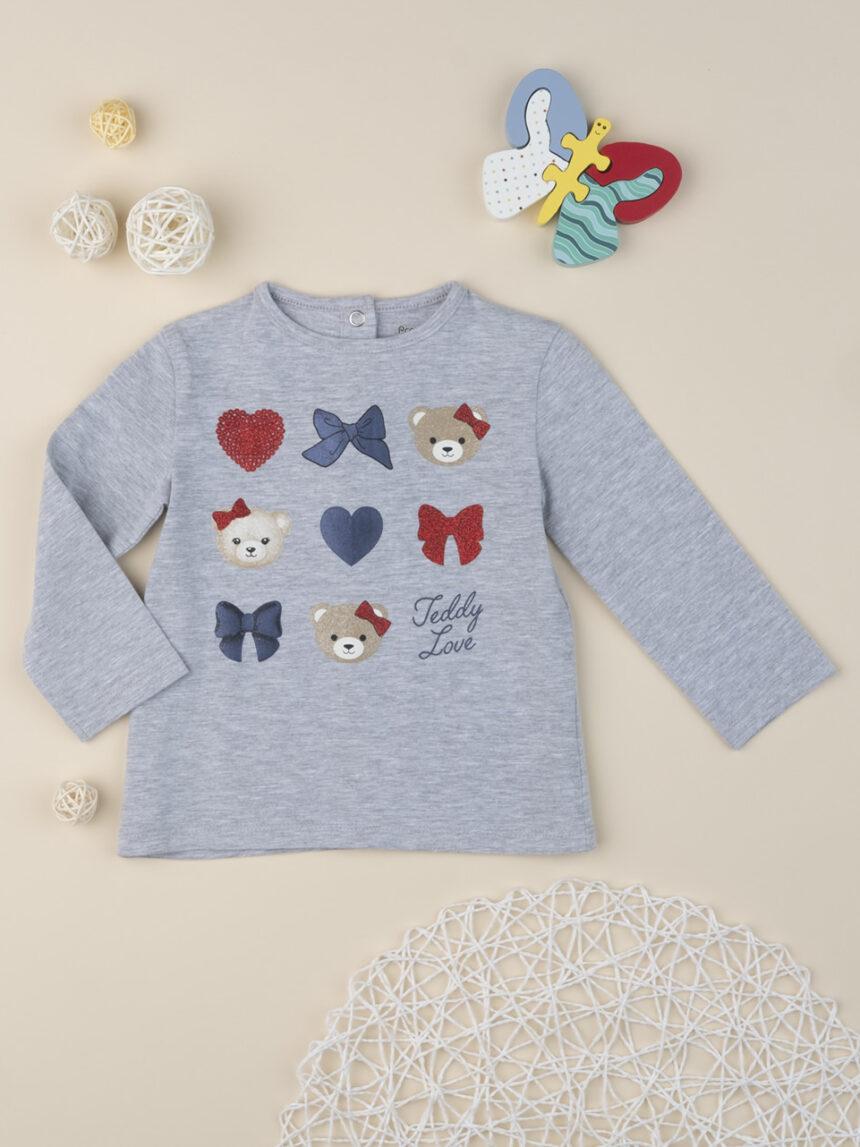 "T-shirt menina ""teddy friends"" - Prénatal"