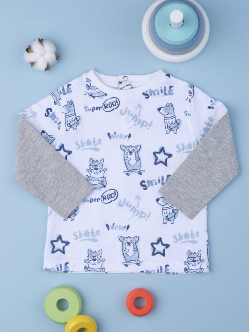 Camiseta menino ótica branca - Prénatal