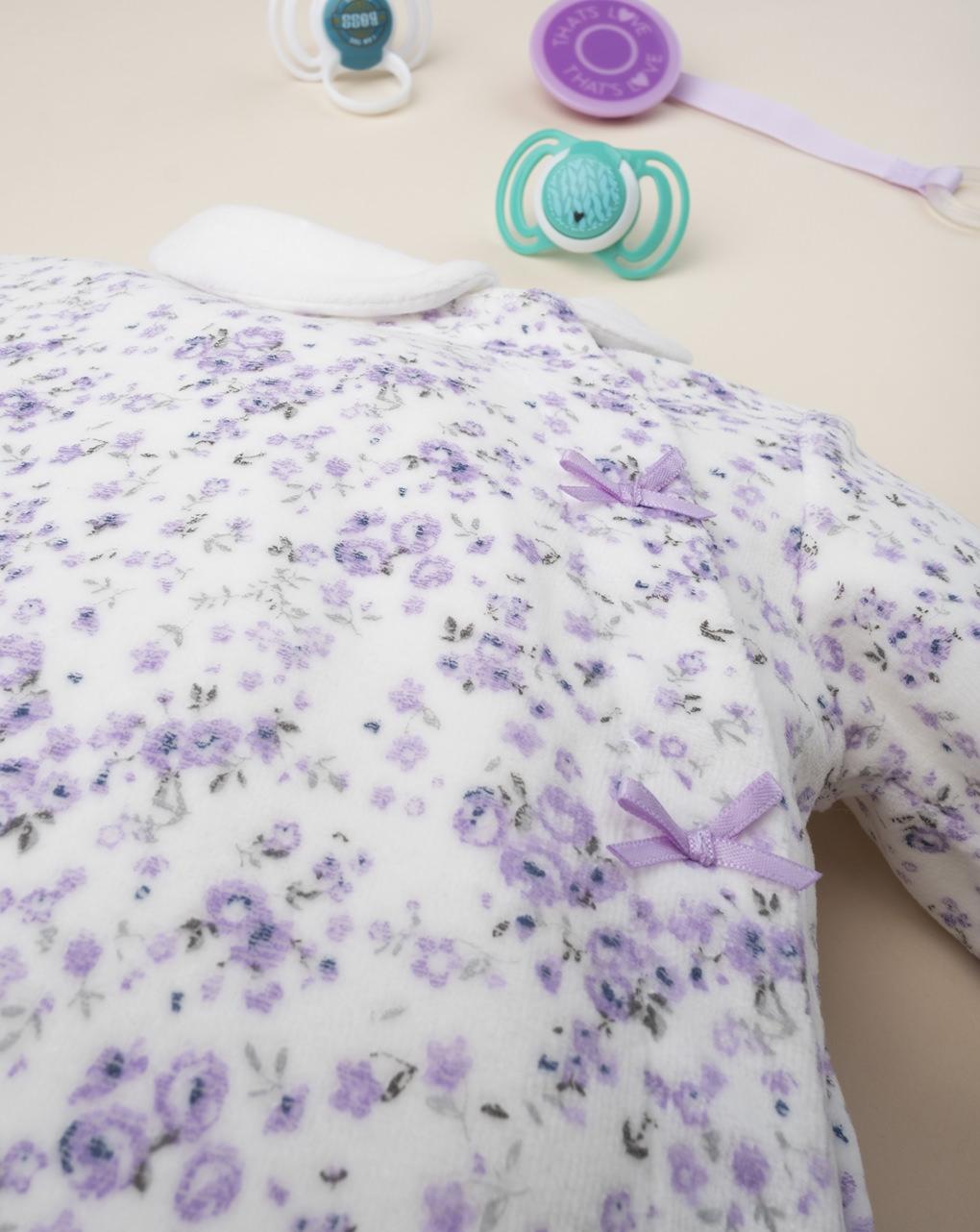 """Pijama de macacão """"flor"""" - Prénatal"""