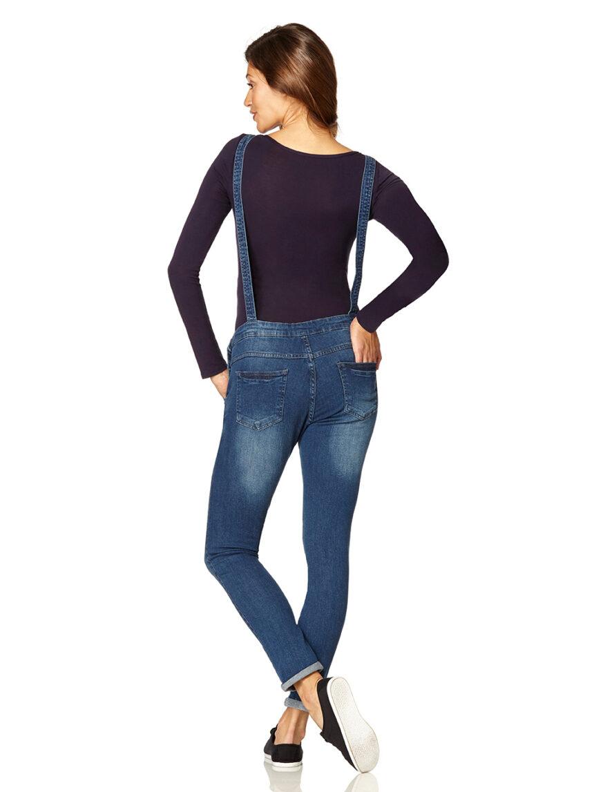 Macacão em jeans azul - Prénatal
