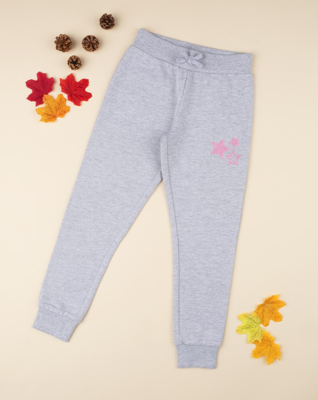 Pantalone felpato menina cinza - Prénatal