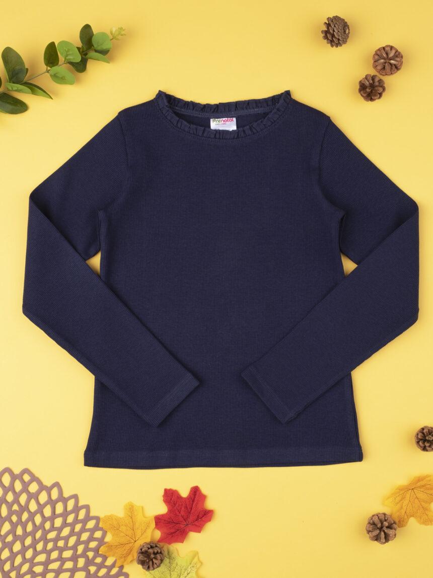 Camiseta menina costina blu - Prénatal