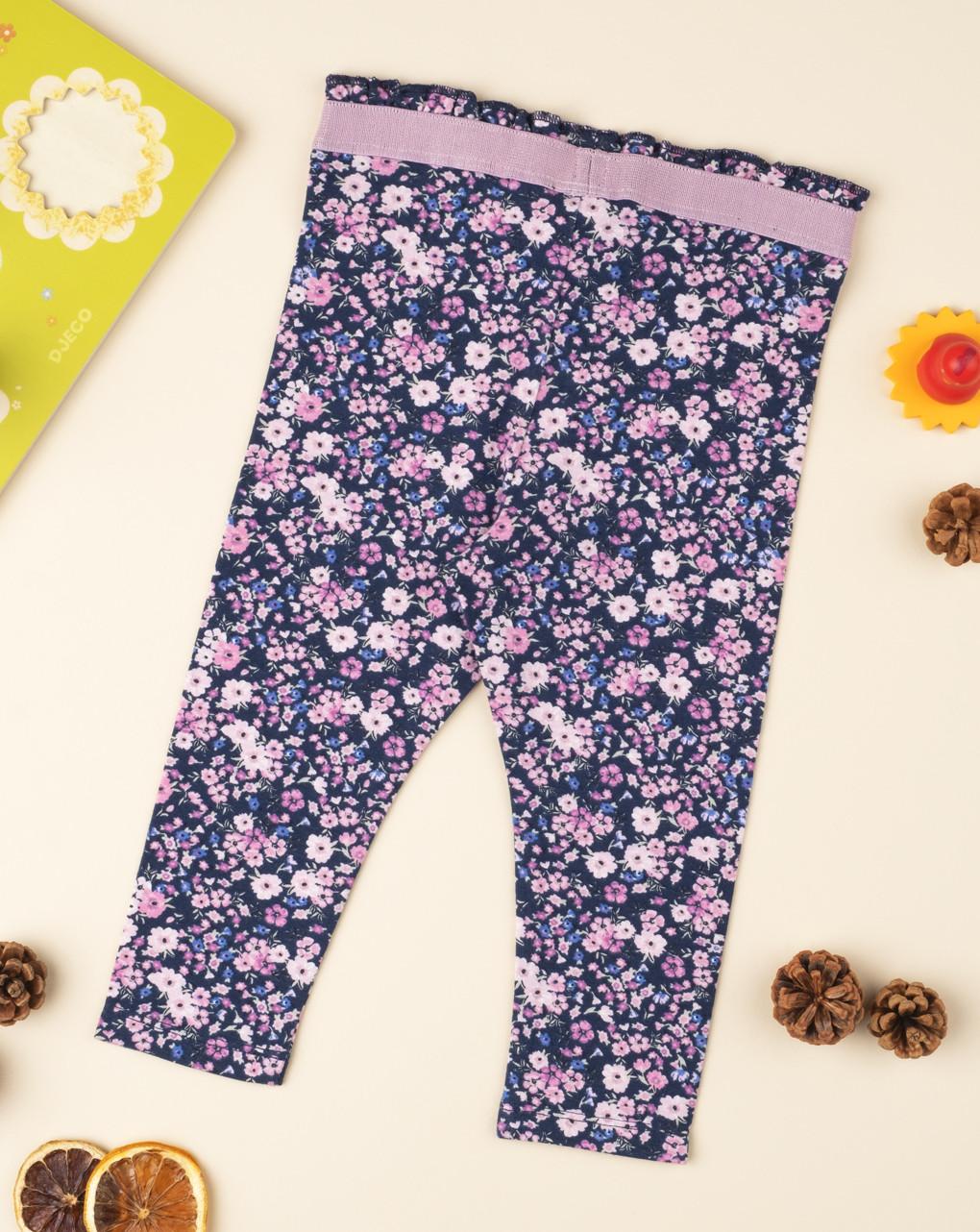 Leggings flor lilla - Prénatal