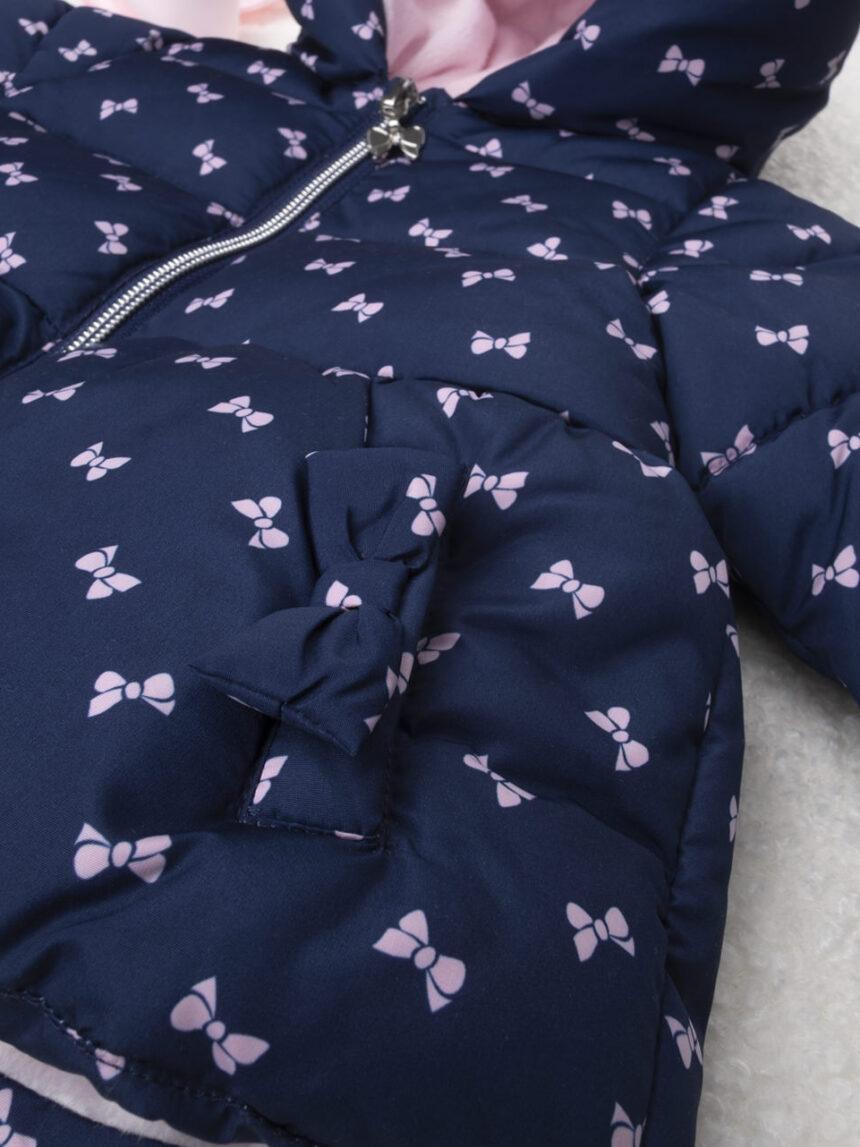 Casaco feminino azul e rosa - Prénatal